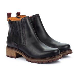 PIKOLINOS Aspe black leather zip up chelsea boot